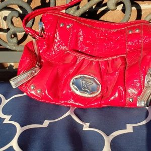 Kathy VanZeeland red purse